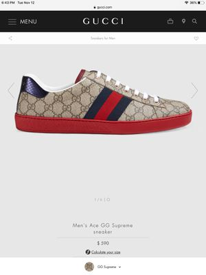 Men Gucci Sneakers Size 10US/9UK BITCOIN ACCEPTED for Sale in Pittsburg, CA