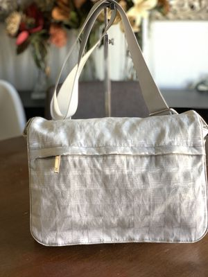 Chanel white nylon messenger bag for Sale in San Diego, CA