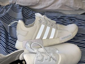 ADIDAS NMD BOOST WHITE ON WHITE SIZE 11.5 for Sale in San Diego, CA