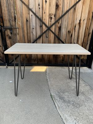 Natural Finish Writing Desk w/ Hairpin Legs for Sale in Anaheim, CA
