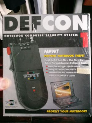 Defcon 1 notebook security system for Sale in Utica, OH