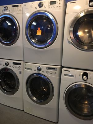 LG front load washer and dryer set in excellent condition for Sale in Halethorpe, MD