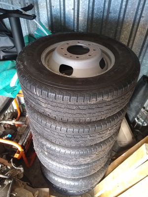 Dually steel wheels & tires ford for Sale in Fort Worth, TX