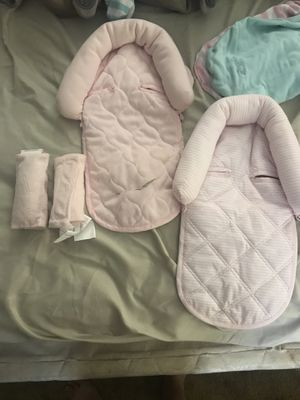 Car seat head reast and strap covers for Sale in Springfield, OR