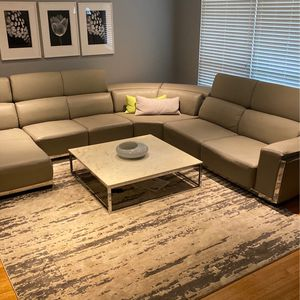 Leather Oversized Sectional for Sale in St. Louis, MO