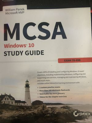 Study guide windows 10 exam 70-698 for Sale in San Diego, CA