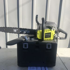 RYOBI 18 in. 38cc 2-Cycle Gas Chainsaw with Heavy Duty Case for Sale in La Habra, CA