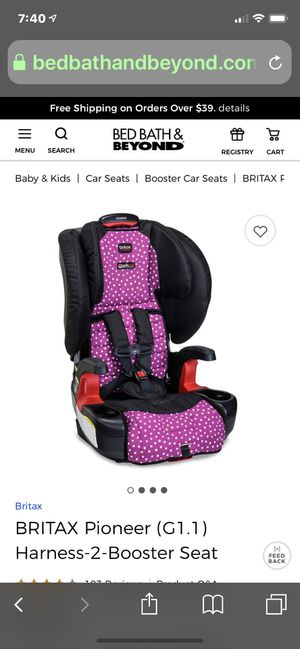BRITAX pioneer (G1,1) Harness-2 Booster Seat for Sale in Asheville, NC