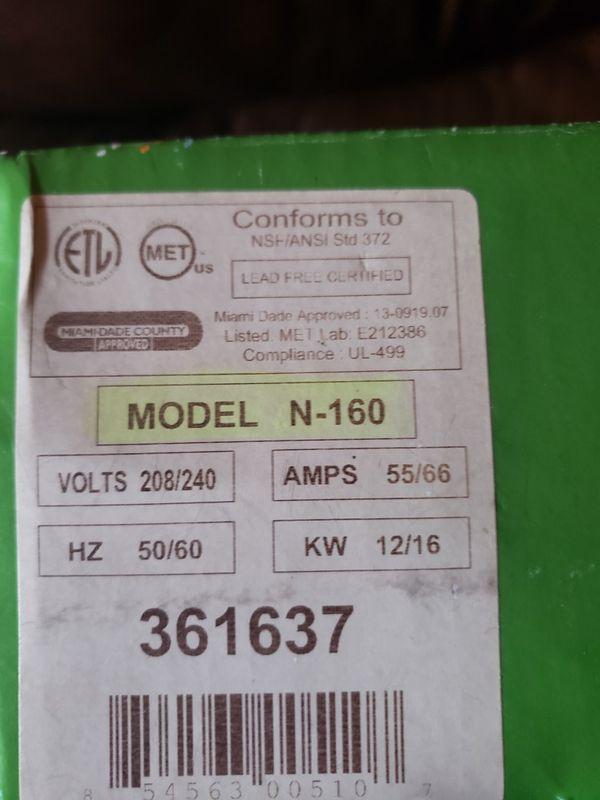 Titan electric water heater N160 tankless water heater
