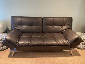 Faux leather futon - perfect condition for Sale in Cornell, CA