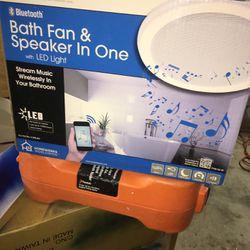 BLUETOOTH BATH FAN & SPEAKER IN ONE for Sale in Phoenix,  AZ