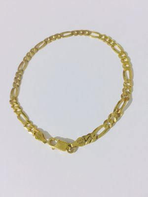 925 Italian Sterling Silver bracelet plated with 24K Gold for Sale in Baldwin Park, CA