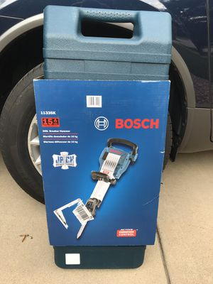 Bosch 15 Amp 1-1/8 in. Corded Concrete Electric Hex Breaker Hammer Kit with Hard Carrying Case with Wheels for Sale in Lemont, IL