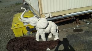 White white elephant 3 feet high 100 lb it's not made of plastic for Sale in Martinez, CA