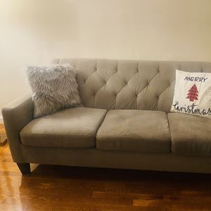 Gray Velvet Sofa & Coffee Table for Sale in Queens, NY