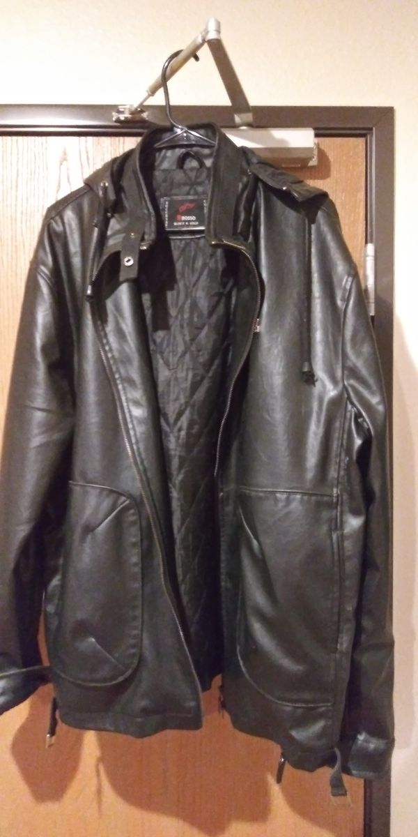 R rosso leather jacket