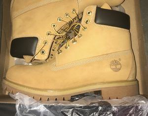 Timberland Men's 6-inch premium waterproof boots Wheat Nubuck for Sale in Parma, OH