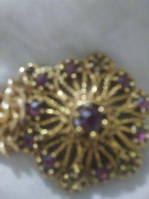 Purple pendant gold color $7 for Sale in Portland, OR
