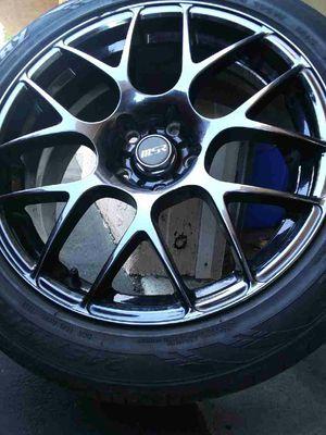 "18"" Gloss Black MSR Rims w/ Sentury Tires(Complete Set of 4) for Sale in Santee, CA"
