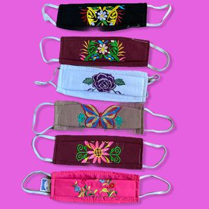 Embroidered Cotton Face Masks/Triple Protection Washable Reusable Mexican Masks $11 each for Sale in Los Angeles, CA