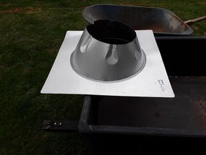 NEW ! $40 Duravent Flashing for a wood burning stove for Sale in Carleton, MI