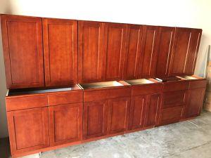 Overstock Shaker Red Oak Kitchen Cabinet Sale for Sale in Dallas, TX