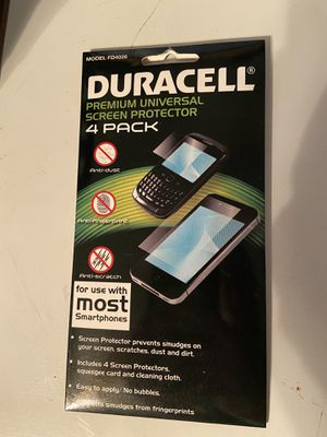 Duracell screen protectors for Sale in Lewisburg, PA