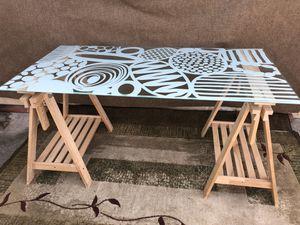 Glass top desk for Sale in Sunnyvale, CA