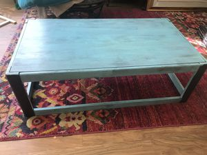 Turquoise and black coffee table! for Sale in Denver, CO