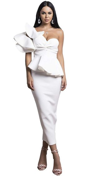 Brand new white evening dress party wedding birthday size S and size M for Sale in Streamwood, IL