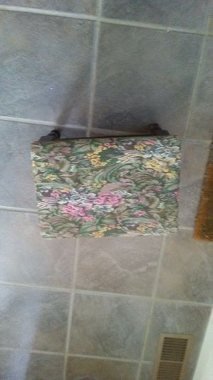 Tapestry Covered Foot Stool for Sale in Bridgeport, OH