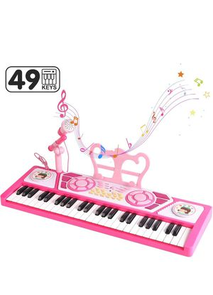 49 Keys Piano Keyboard Toy with Microphone for Beginners, Multifunctional Musical Instruments for Kids, Electronic Teaching Keyboard Toys Piano Gifts for Sale in Chula Vista, CA