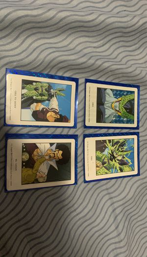 Dragonball Z Cell/Satan trading cards. for Sale in Miami, FL