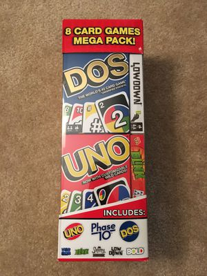 8 Card Games mega pack (never opened) for Sale in Washington, DC
