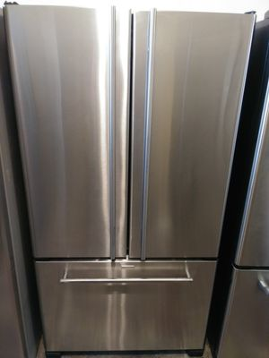 REFRIGERATOR JEEN AIR STAINLESS STEEL FRENCH DOORS EXTREMELY CLEAN for Sale in Los Angeles, CA