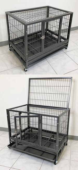 """New $110 Heavy Duty 36x24x29"""" Large Dog Cage Pet Kennel Crate Playpen w/ Wheels for Large Pets for Sale in Pico Rivera, CA"""