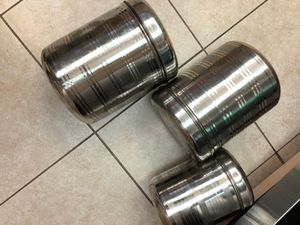 Stainless steel 3 containers for Sale in Concord, CA