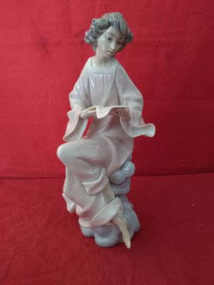 "RETIRED LLADRO SPAIN 1976 ""ANGEL RECITAL"" FINE PORCELAIN FIGURINE SIGNED 11-1/4"" TALL for Sale in Pompano Beach, FL"