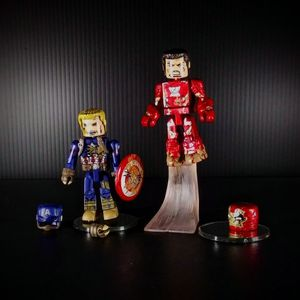 Captain America & Ironman Civil War Battle Damaged Minimates Marvel for Sale in Signal Hill, CA