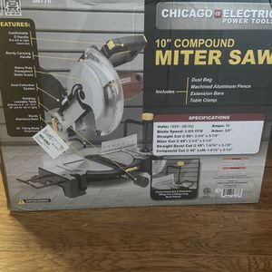 10inch Miter Saw Single Bezel ( Brand New In Box) Never Open. Stand Not Included for Sale in St. Louis, MO