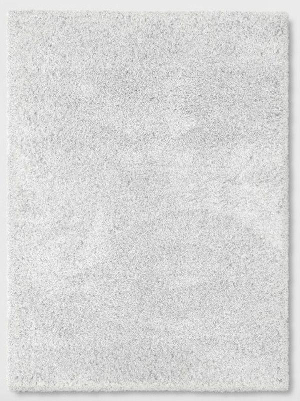 New 7 x 10 White Shag Rug