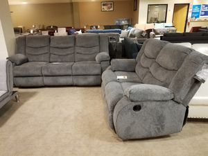 Grey Recliner Sofa and Loveseat Set for Sale in Phoenix, AZ