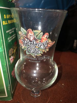 Rainforest Cafe Hurricane Souvenir Glass Cup CA Downtown Disney Collectible for Sale in South Gate, CA