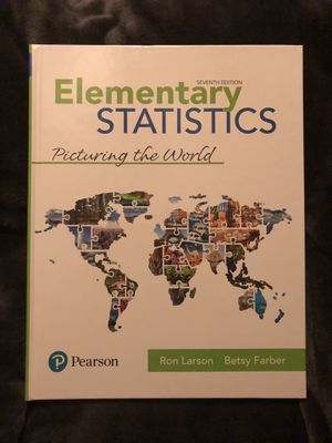 Elementary Statistics: Picturing the World (7th Edition) for Sale in Miami, FL