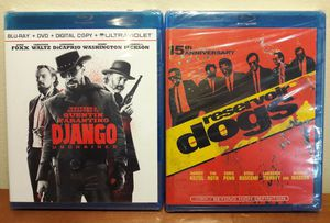 Django Unchained & Reservoir Dogs Blu-Ray Lot tarantino movies for Sale in Marietta, GA