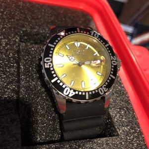 Invicta Yellow Face Black Band Watch for Sale in Sloan, NV