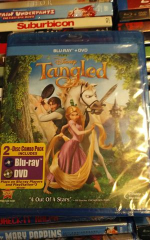 Tangled Cars Moana Thor Blu-Ray + Dvd Mint Condition No Digital for Sale in Perris, CA