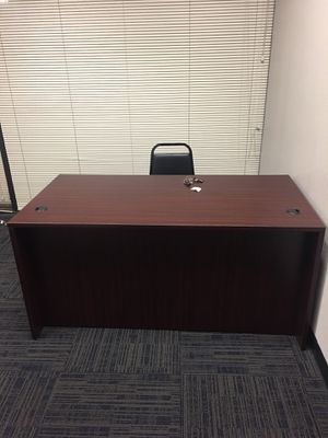 Mahogany executive desk with a filing cabinet hutch for Sale in San Jose, CA