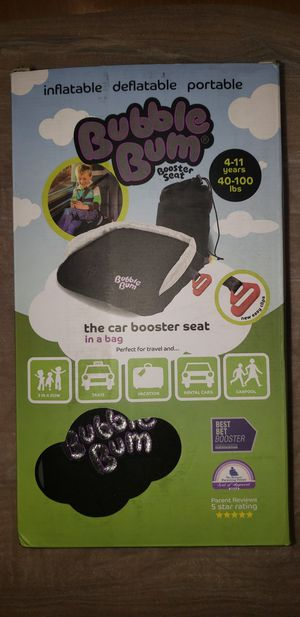 BubbleBum Backless Inflatable Booster Car Seat, Black for Sale in Dearborn Heights, MI