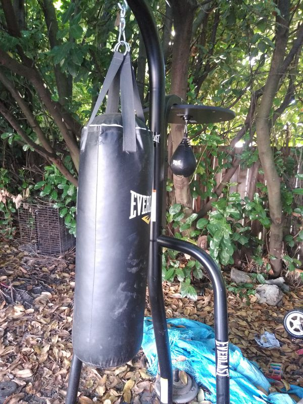 punching bag and speed bag